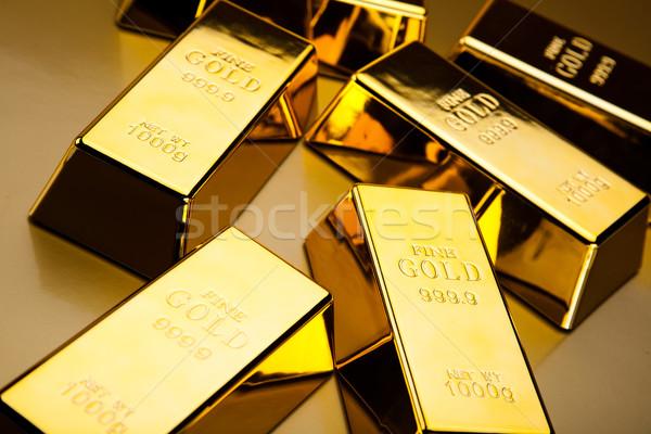 Golden Bar, ambient financial concept Stock photo © JanPietruszka