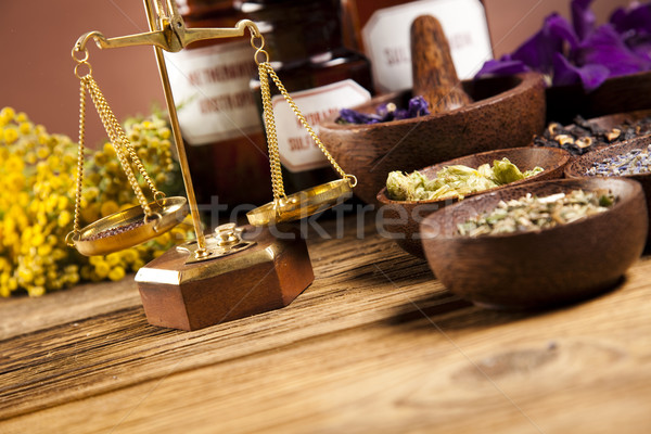 ハーブ 薬 ヴィンテージ 木材 自然 美 ストックフォト © JanPietruszka