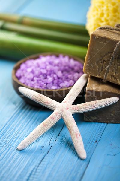 Natuurlijke organisch producten spa badkamer Stockfoto © JanPietruszka