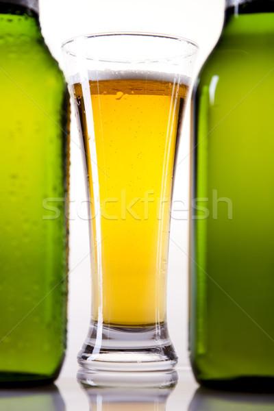 Sör fényes vibráló alkohol buli üveg Stock fotó © JanPietruszka