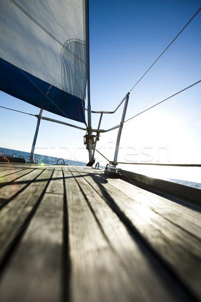 Sailing detail, summertime saturated colorful theme Stock photo © JanPietruszka