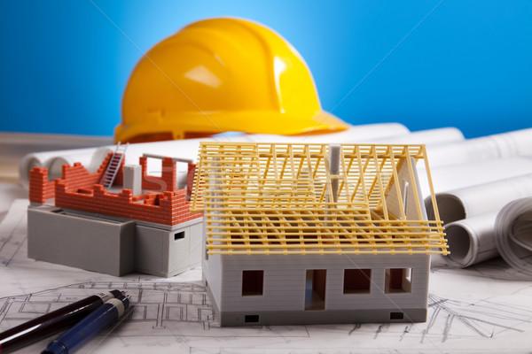 építkezés tervek építészet művészet tudomány épületek Stock fotó © JanPietruszka