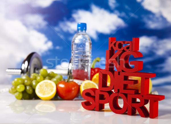 Foto stock: Dieta · fitness · comida · fruto · saúde · fundo