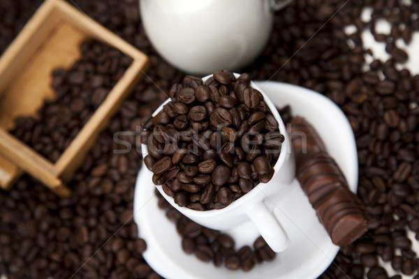 Cafeïne levendig heldere textuur voedsel frame Stockfoto © JanPietruszka