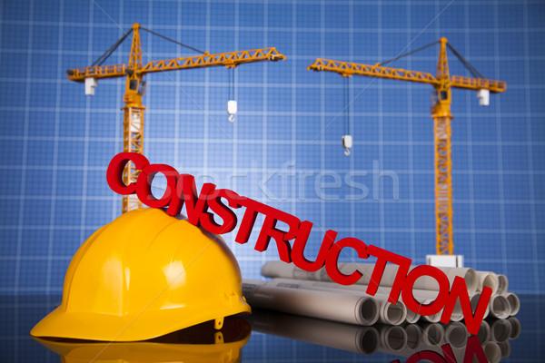зданий строительство здании крана чертежи бизнеса Сток-фото © JanPietruszka