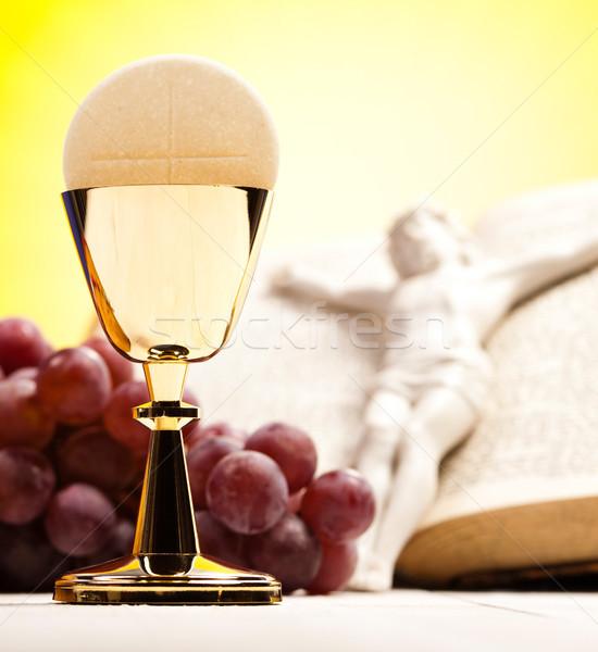 Christian communion lumineuses livre jesus Photo stock © JanPietruszka