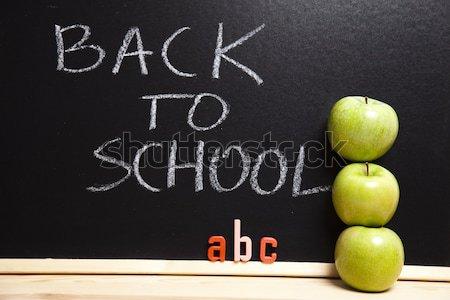 Lição escolas escrita quadro-negro estudante fundo Foto stock © JanPietruszka