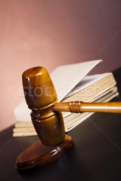 молоток прав правосудия студию древесины Сток-фото © JanPietruszka
