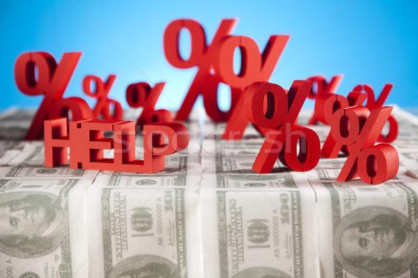 Rosso percentuale simbolo business segno banca Foto d'archivio © JanPietruszka