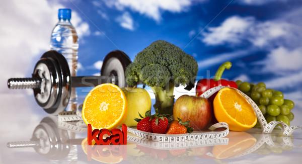 Vitaminas alimentos fitness frutas salud Foto stock © JanPietruszka
