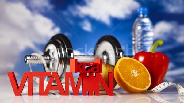Witaminy żywności fitness owoców zdrowia Zdjęcia stock © JanPietruszka