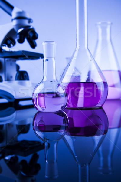 Microscopio médicos laboratorio cristalería educación medicina Foto stock © JanPietruszka