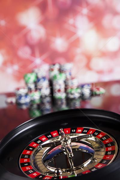 Roulette gambling in a casino Stock photo © JanPietruszka
