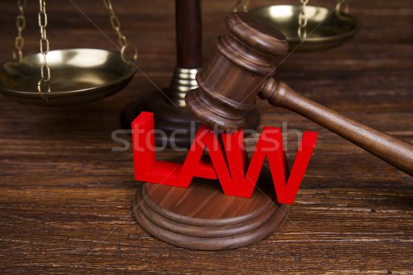 Legge giustizia legno martelletto giudice scala Foto d'archivio © JanPietruszka
