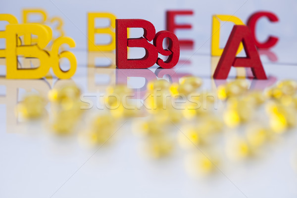 Vitamin, Pills, Tablets, Capsule, Medical background Stock photo © JanPietruszka
