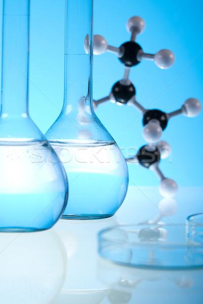Laboratório artigos de vidro experiência médico lab químico Foto stock © JanPietruszka