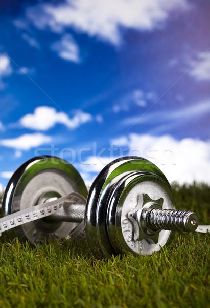Сток-фото: зеленая · трава · фитнес · здоровья · мышцы · жира · свежие