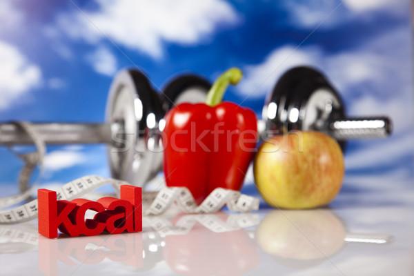 Stock fotó: Sport · diéta · kalória · étel · fitnessz · gyümölcs