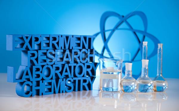 Foto d'archivio: Laboratorio · vetro · chimica · scienza · formula · medicina