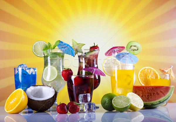 Alkohol italok tengerpart természetes színes étel Stock fotó © JanPietruszka