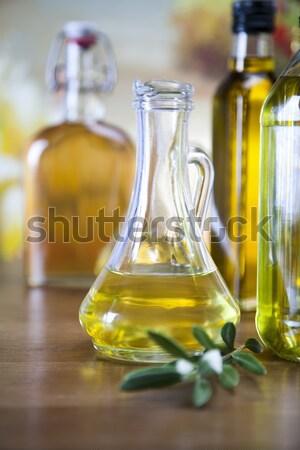 Azeite extra virgem mediterrânico rural folha Foto stock © JanPietruszka
