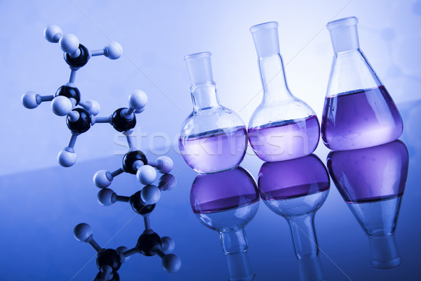 Science concept, Chemical laboratory glassware Stock photo © JanPietruszka