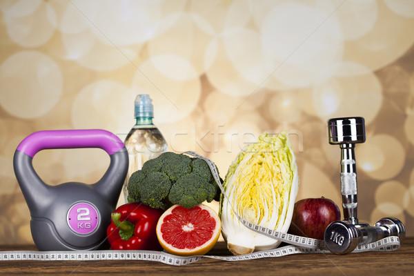 Stockfoto: Vers · voedsel · maatregel · dieet · fitness · sport