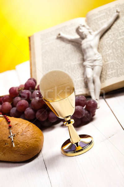 Symbol christianity religion, bright background, saturated conce Stock photo © JanPietruszka