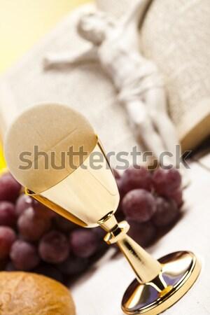 Szentség úrvacsora fényes könyv Jézus templom Stock fotó © JanPietruszka