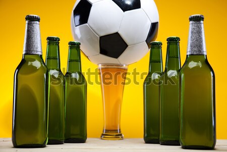 Beer collection, football, bright vibrant alcohol theme Stock photo © JanPietruszka