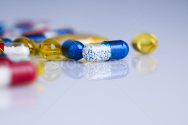 Closeup of medical capsule, healthy background Stock photo © JanPietruszka