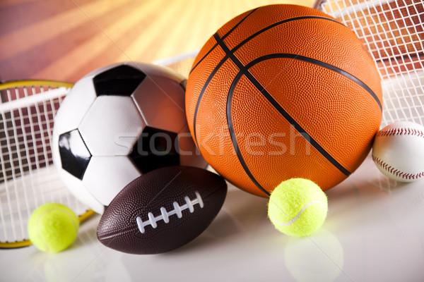 Assorted sports equipment Stock photo © JanPietruszka
