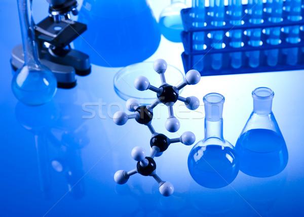 Laboratorio cristalleria tecnologia vetro blu industria Foto d'archivio © JanPietruszka