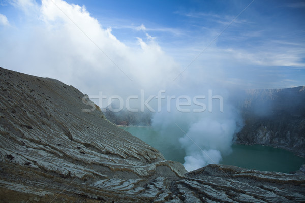 Volcano Ijen, Java, Indonesia, bright colorful vivid theme Stock photo © JanPietruszka