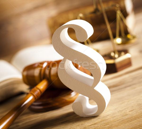 木製 小槌 段落 木材 正義 弁護士 ストックフォト © JanPietruszka