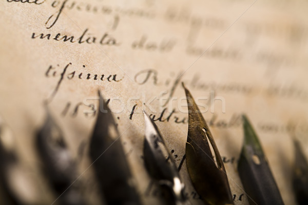 Ancient manuscript, vintage saturated ambient concept Stock photo © JanPietruszka