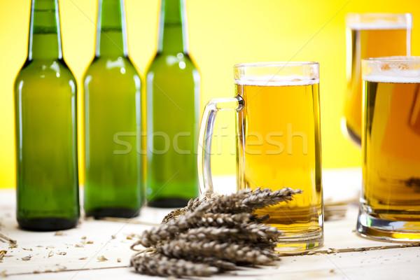 Birra raccolta vetro luminoso vibrante alcol Foto d'archivio © JanPietruszka