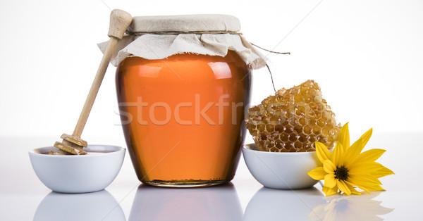 Tatlı bal dağ şişe altın tatlı Stok fotoğraf © JanPietruszka