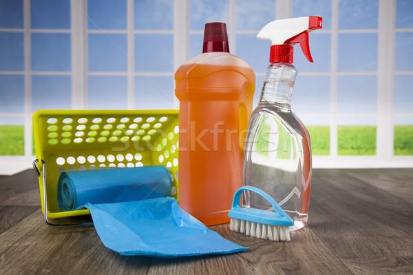家 洗浄 製品 ウィンドウ クリーニング製品 ストックフォト © JanPietruszka