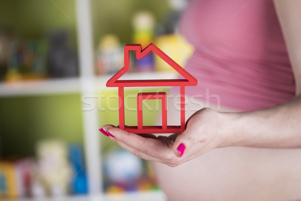 Lifestyle concept, Pregnant new home Stock photo © JanPietruszka