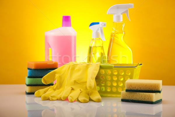 Foto stock: Casa · limpeza · produto · trabalhar · casa · garrafa