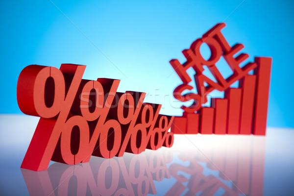 Sprzedaży finansów procent działalności podpisania czerwony Zdjęcia stock © JanPietruszka