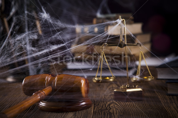 Scales of justice, gavel Stock photo © JanPietruszka