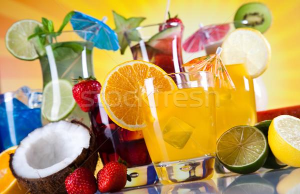 Foto d'archivio: Frutta · cocktail · spiaggia · alimentare · arancione · spazio