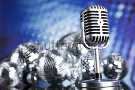 Retro microphone, music saturated concept Stock photo © JanPietruszka
