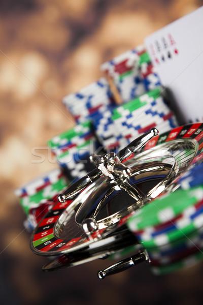 Casino ruleta jugando chips diversión negro Foto stock © JanPietruszka