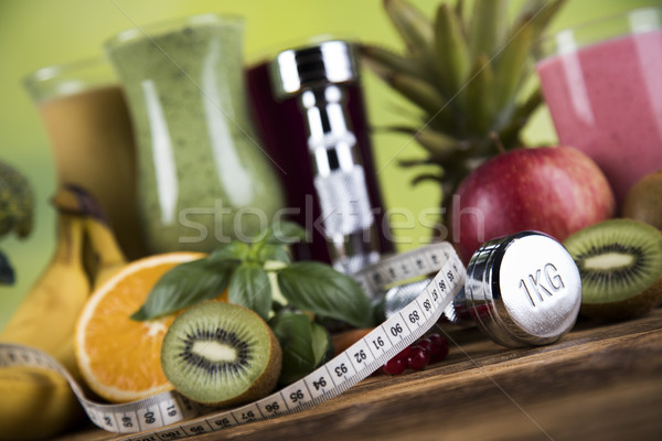 Healthy diet, protein shakes, sport and fitness  Stock photo © JanPietruszka