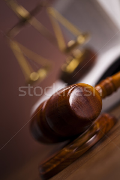 Stock photo:  Law theme, mallet of judge!