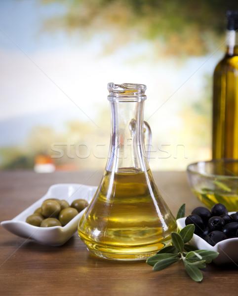 Carafe with olive oil  Stock photo © JanPietruszka
