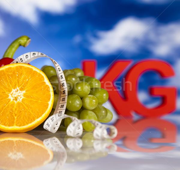 Vers voedsel maatregel dieet voedsel fitness vruchten Stockfoto © JanPietruszka